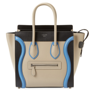 Luggage Micro Tricolor Leather Tote by Céline at Gilt