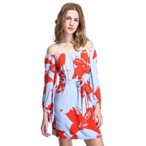 Bardot Off-Shoulder Floral Dress   South Moon Under