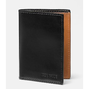 Mitchell Leather Vertical Flap Wallet - JackSpade