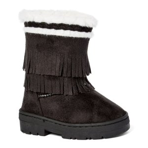 Chatz by Chatties Black Braided Fringe Boot | zulily