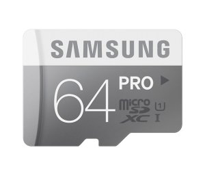 Samsung PRO 64GB Class 10 UHS-1 microSD Memory Card