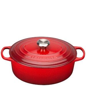 Le Creuset Signature Cast Iron Oval Casserole Dish - 31cm - Cerise Homeware   TheHut.com