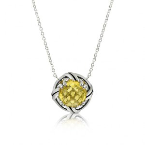 Ribbon & Reed Fantasies Citrine Necklace in sterling silver