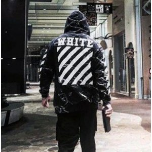 Off-White Colorblock Long Sleeve Jacket