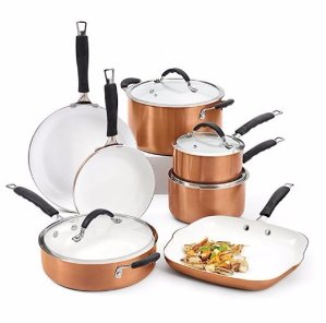 Bella 11-pc. Ceramic Cookware Set @ Bon-Ton