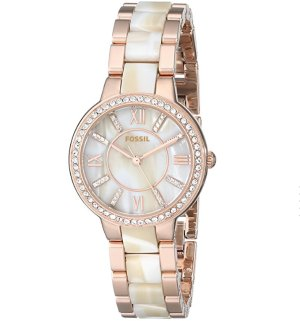 Lowest price! $64.78( reg. $135 ) Fossil Women's ES3716 Virginia Three-Hand Stainless Steel Watch