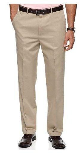 Haggar No Iron Cotton Classic Fit Flat Front Dress Pants