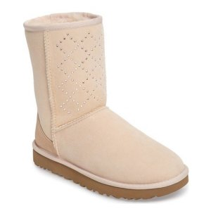 UGG® Classic Short - Crystal Genuine Shearling Lined Boot (Women)
