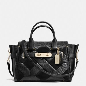 COACH Designer Handbags | Coach Swagger In Patchwork Pebble Leather