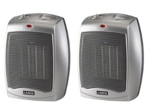 $29.98 Lasko Ceramic heater 2-Pack with Adjustable Thermostat 754200