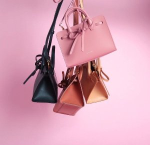 New In MANSUR GAVRIEL Sun mini patent-leather tote @ Net-A-Porter
