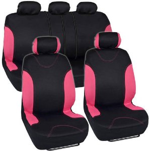 $22.95BDK Sleek and Stylish Car Seat Covers, Split Bench Option, 5 Headrests, Side Airbag Compatible