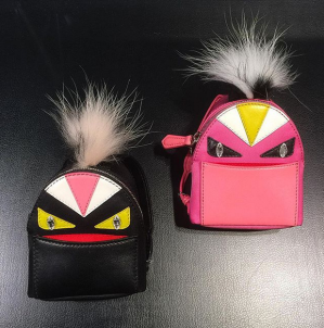 $300.00(reg.$1000.00) FENDI  Bag Bugs Backpack Bag Charm