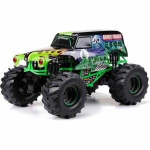 New Bright 1:10 Radio Control Full-Function 9.6V Monster Jam Grave Digger, Black
