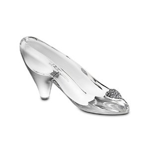 Personalizable Small Cinderella Glass Slipper by Arribas | Disney Store