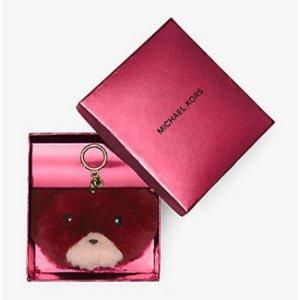 Teddy Bear Fur Keychain | Michael Kors