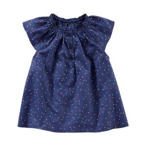 Toddler Girl Heart Print Poplin Top | OshKosh.com