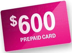 最高$600MasterCard®预付费卡换到T-Mobile每条线可立即获得$150预付费卡
