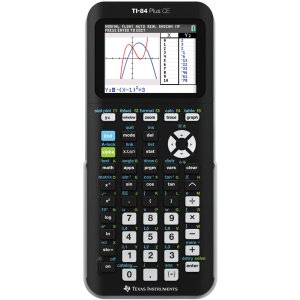 TI-84 Plus CE Graphing Calculator, Mixed Colors