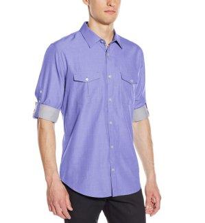 $15.99 Calvin Klein Men's Long-Sleeve Cotton Tencel Shirt