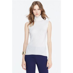 DVF Sutton Sleeveless Turtleneck Sweater | Landing Pages by DVF