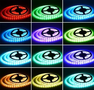 $15.99 StripSun 16.4ft/5m LED Strip Waterproof Color Changing RGB