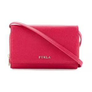 Furla Classic Leather Crossbody Pouch, Gloss