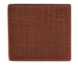 Loewe Textured Leather Bi-Fold Wallet, Brown/Tan