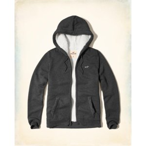 Guys Iconic Sherpa Lined Hoodie | Guys Clearance | HollisterCo.com