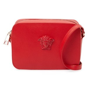 Versace Palazzo Small Saffiano Leather Crossbody