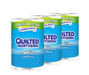 #1 Best seller! $15.24 Quilted Northern Ultra Soft & Strong 24 Supreme (90+ Regular) Rolls TOILET PAPER