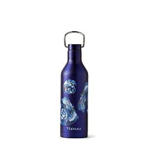 Blue Floral Stainless Steel Bottle | Teavana