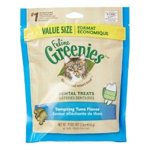 Greenies Dental Treats Tempting Tuna Dry Cat Treat, 5.5 Oz | Jet.com