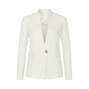Kamalia, Stretch Virgin Wool Blend Jacket | HUGO BOSS