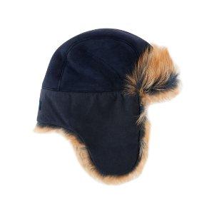 UGG Toscana Long-Pile Fur Trapper Hat, Indigo