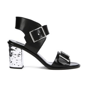 McQ Alexander McQueen Women's Shackwell Strap Heeled Sandal - Black - Free UK Delivery over £50