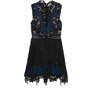 SELF-PORTRAIT Clementine guipure lace mini dress