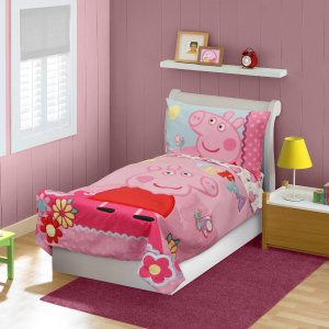 Peppa Pig 4-Piece Toddler Bedding Set - Walmart.com