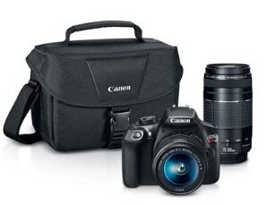 $349 Canon EOS Rebel T6 DSLR 2 Lens Camera Kit