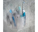 InterDesign Rain Power Lock Suction, Toothbrush Holder for Bathroom Mirror, Shower, Clear - Walmart.com