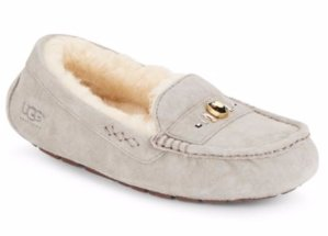 $69.99(Org. $135) UGG Australia Ansley Swarovski Crystal, Leather & Shearling Loafers Sale @ Saks Off 5th