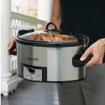 Crock-Pot SCCPVL610-S 6-Quart Programmable Cook and Carry Oval Slow Cooker, Digital Timer