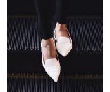 Nicholas Kirkwood 白色尖头平底鞋