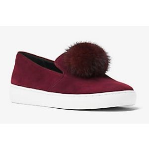 MICHAEL KORS COLLECTION Eddy Pom-Pom Suede Slip On Sneaker