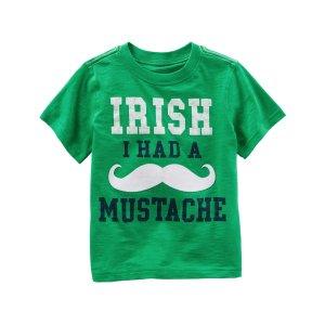 Baby Boy Irish I Had A Mustache St. Patrick's Day Graphic Tee   Carters.com