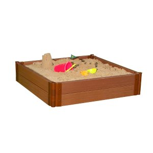 Frame It All Two Inch Series 4 ft. x 4 ft. x 11 in. Composite Square Sandbox Kit-300001245 - The Home Depot