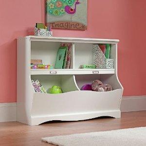 $53.24 Sauder Pogo Bookcase/Footboard, Soft White Finish