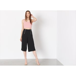 Karlie High Rise Culotte with Zips
