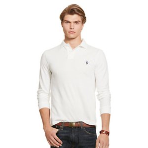 Classic Fit Cotton Mesh Polo - Long Sleeve � Polo Shirts - RalphLauren.com