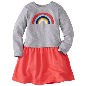 Girls Get Appy Appliqué Dress in French Terry | Girls Dresses